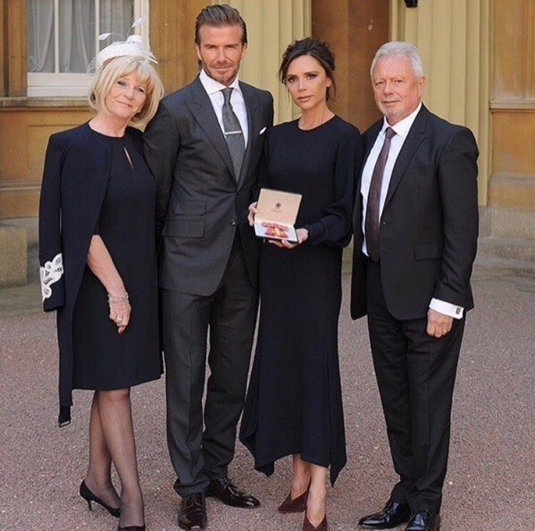I love u David X Thank you for always supporting and encouraging me to follow my dreams. #OBE #BuckinghamPalace X VB https://t.co/2B0NPqvS3m
