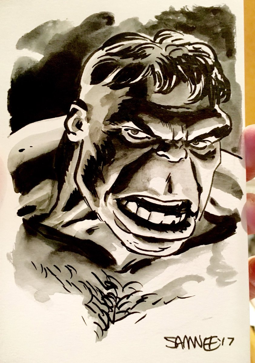 Still fooling around with washes.  #HULK <br>http://pic.twitter.com/feoTYfsV0o