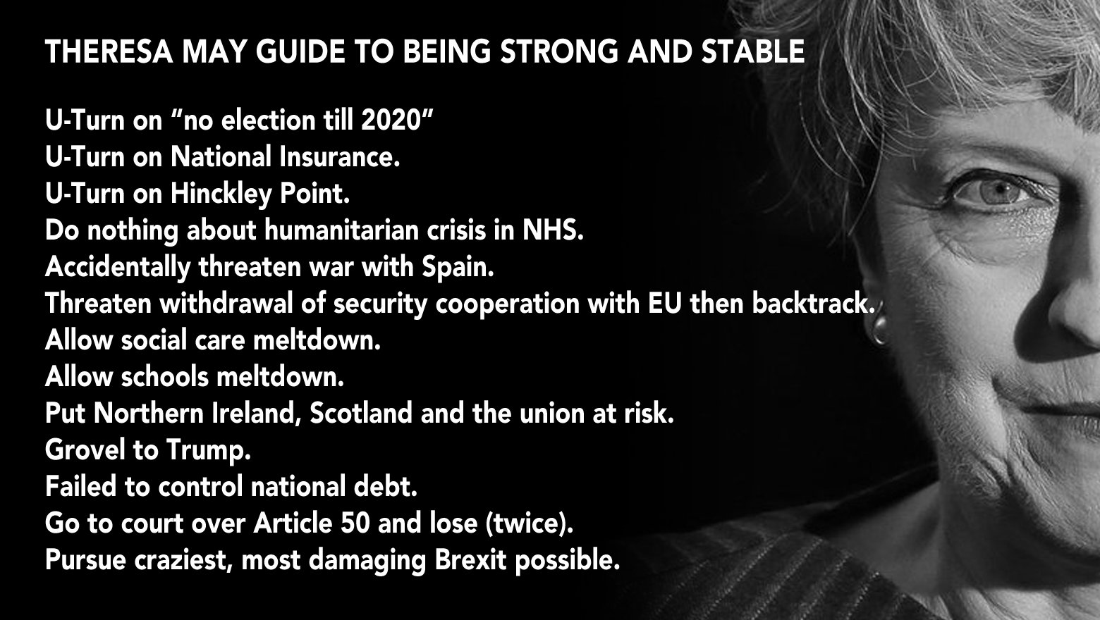 Theresa May's handy guide to strong and stable government. https://t.co/GZIyLXgIgD