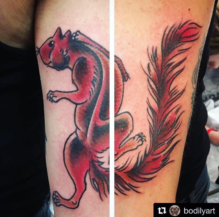 This little rascal done at the convention last year by @bodilyart  #Repost ・・・ Made this Virginia Red Devil today @rvatattooartspic.twitter.com/NRP46IEYsG