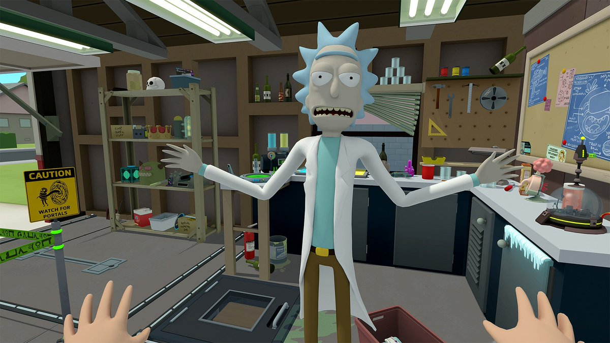 The wait is over! @owlchemylabs & @adultswimgames Rick & Morty: Virtual Rick-ality is out now on Vive! store.steampowered.com/app/469610/