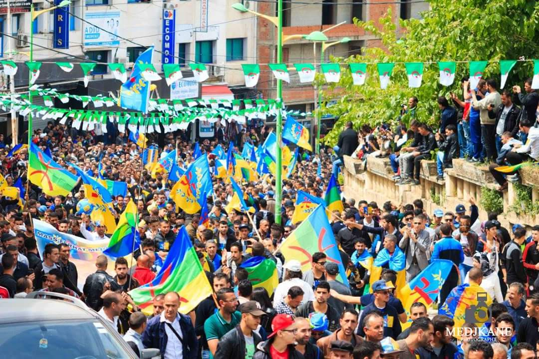 #Kabylie: photos of the massive march in #TiziOuzou today, the Kabylie Berbers have obviously had enough of #Bouteflika&#39;s rule<br>http://pic.twitter.com/Xlbp49raVO