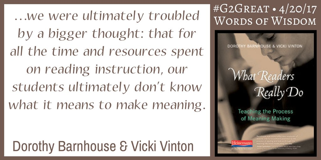 Words of Wisdom from @VickiVintonTMAP @dorobarn @brennanamy @DrMaryHoward #G2Great https://t.co/UVt2uIY63D