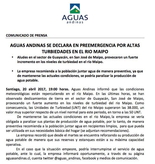 Thumbnail for Alerta en Cajón del Maipo por desborde del estero San José