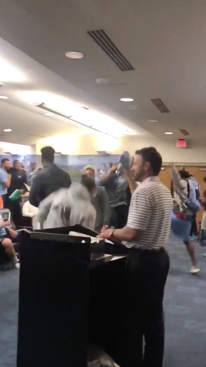Tar Heels football players were HYPED to get Air Jordan Retro 11s 😱 (via @UNCEquipment)