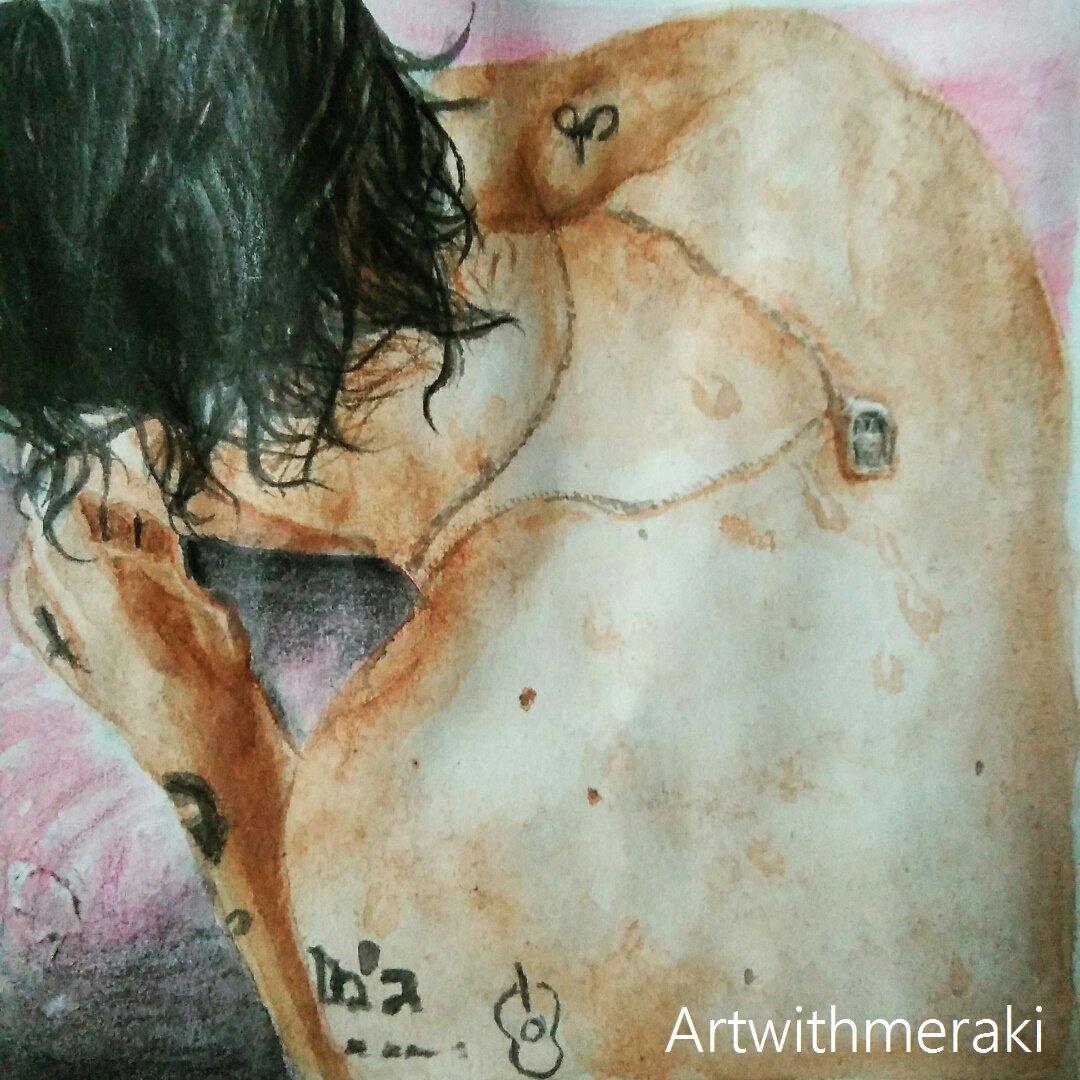 On Twitter Harry Styles 12 06 17 Harrystyles Onedirection Art Artist Watercolor Watercolour Watercolors Album Harrystylesonsnl Pink Doodle Https T Co 9pzmpbppp7
