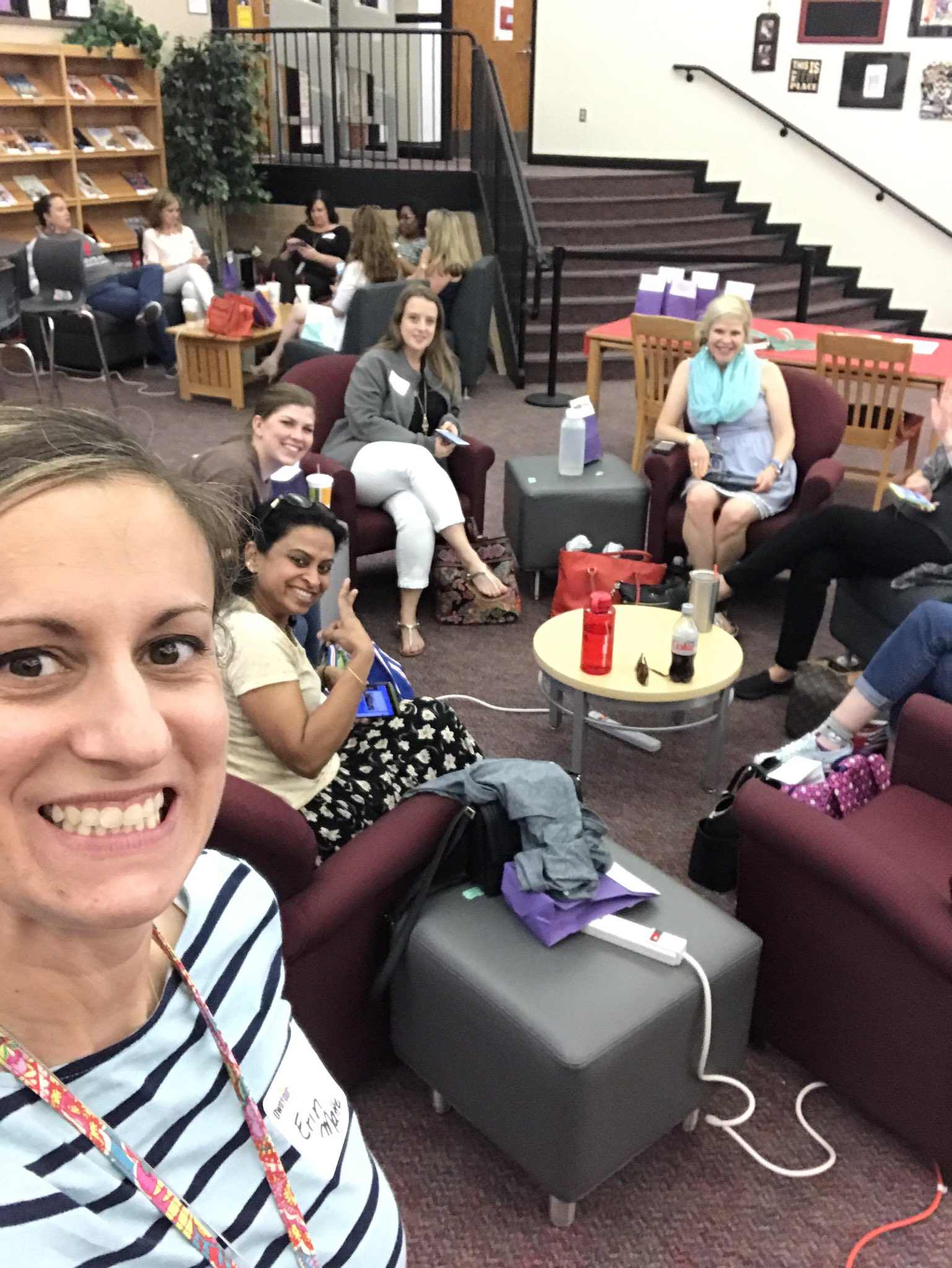 So excited to spend some time with these amazing @FISD_Libraries for the Tweet Up today at @LHSRedhawks #txla17 https://t.co/UpdyQy453D