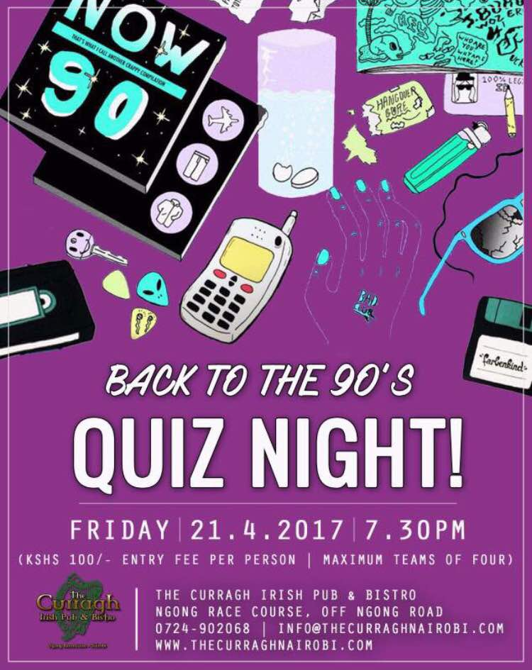 Curragh 90s Quiz Night