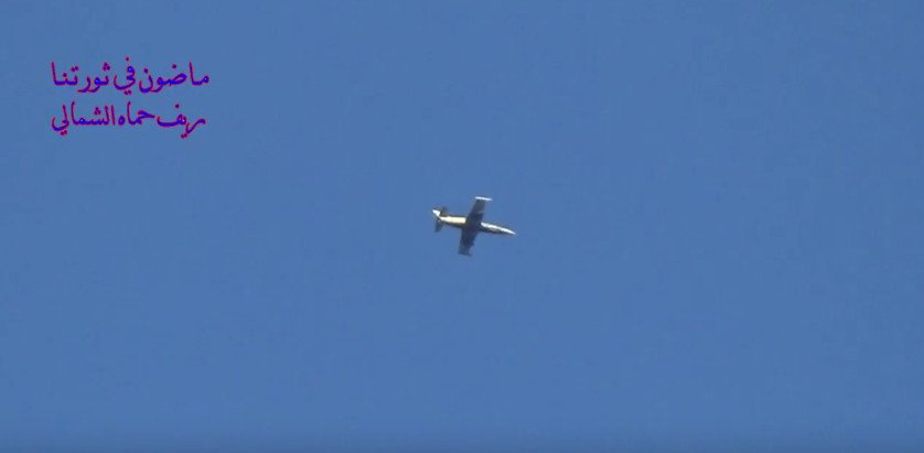 N. Hama: clear pic of SyAF L-39 involved in bombing Taybat Al-Imam front earlier today.