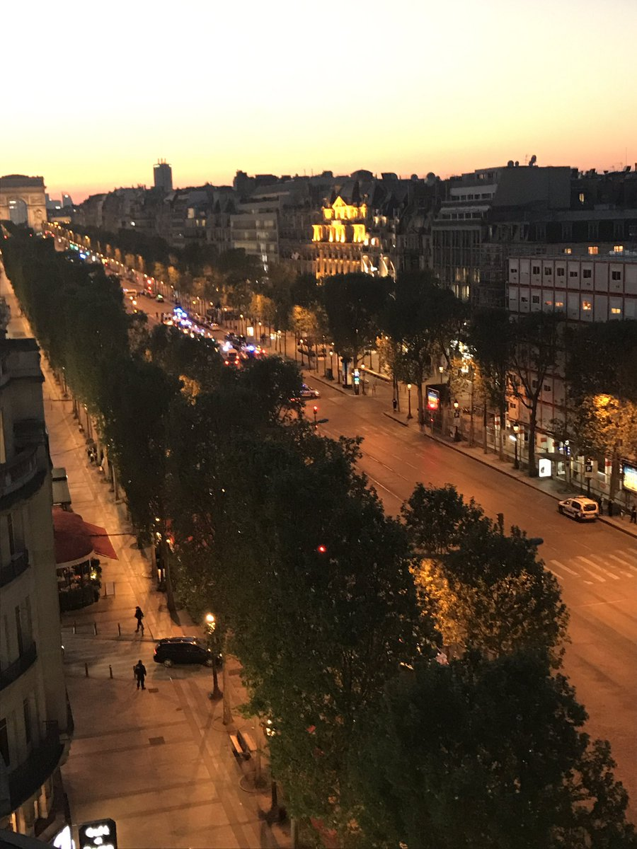 The Champs Elysées in Paris closed; police telling people to steer clear from the area