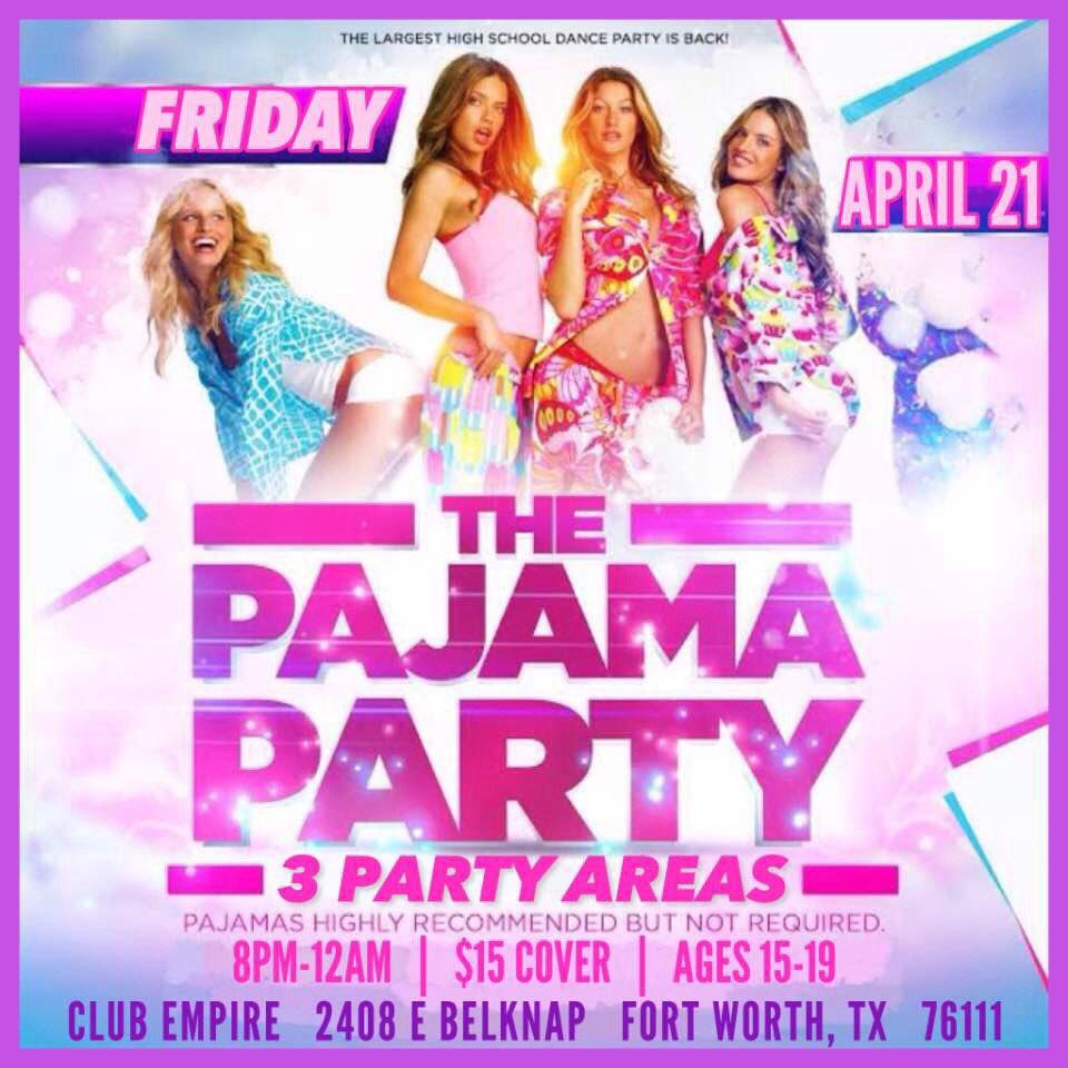 pajama party flyer