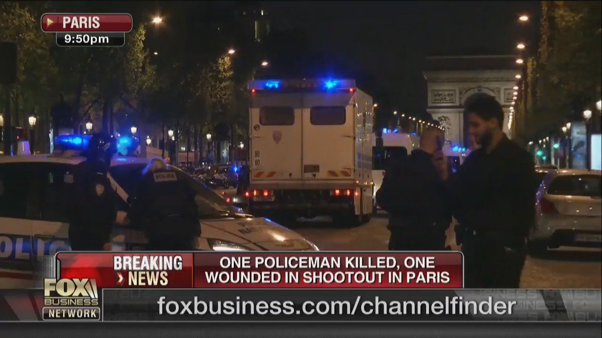 #BreakingNews - One policeman killed, one wounded in shootout in #Paris. #ChampsElysees https://t.co/svM6FJTJ0s