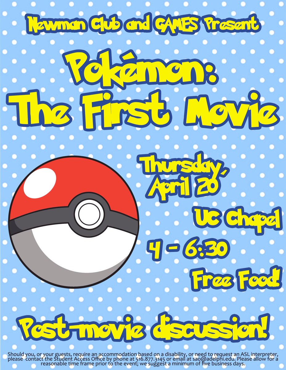 Come join us for an awesome night with @adelphiccm! #pokemon #gaming #adelphi <br>http://pic.twitter.com/ROjQF7ICqc