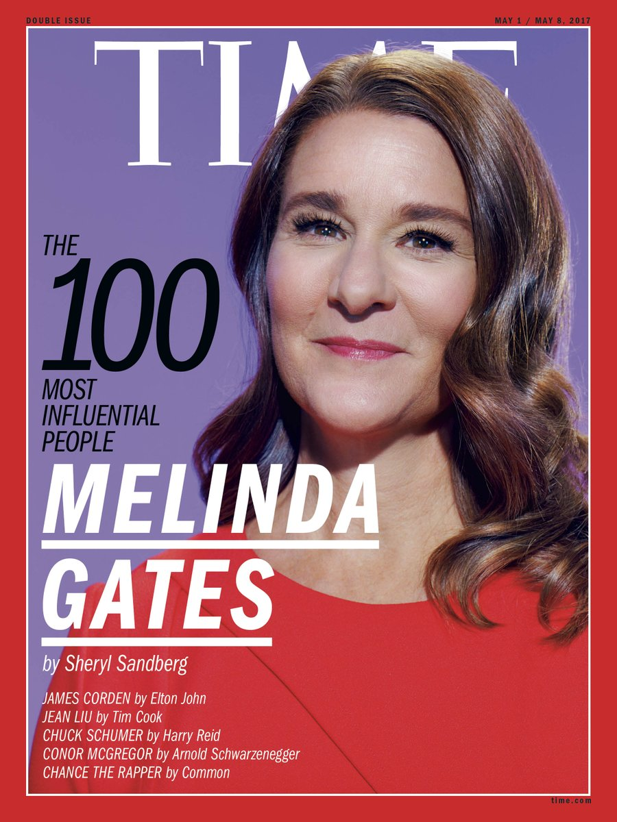 Melinda's work on behalf of women and girls inspires me every day. This is a beautiful piece: https://t.co/yhRv1I7TJ9 #TIME100