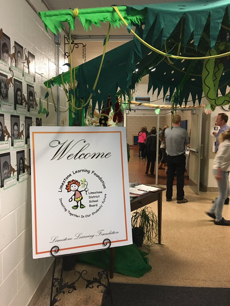 @CentralPS_LDSB w/ grant presentations. 10 projects will share in $30,000. Check out the cool decor from school's play Jungle Book. https://t.co/ZixHk4BFxe