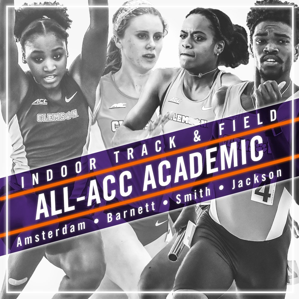 Iana Amsterdam, Grace Barnett, Rebekah Smith & Terrell Jackson named to 2017 All-ACC Academic Indoor Team!  https://t.co/xuVkA7jMkC https://t.co/aBcM3T6SbJ