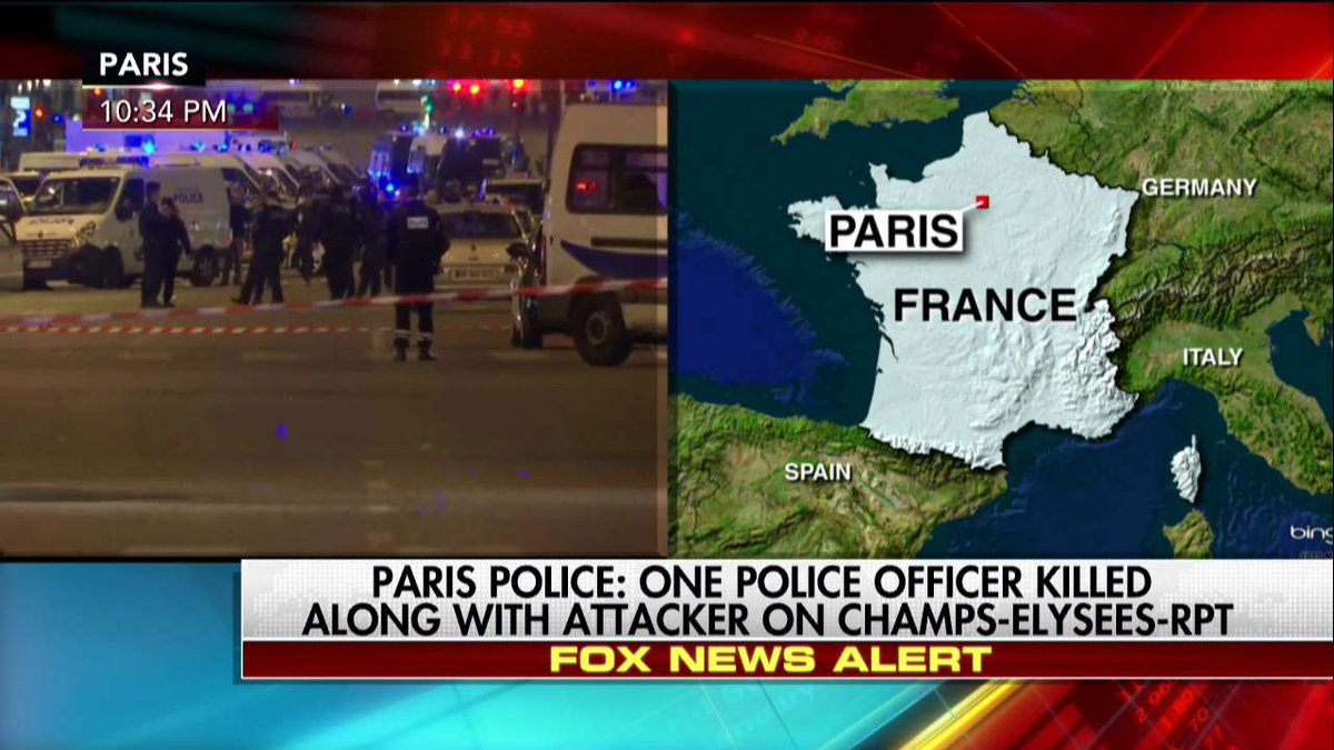 #Paris Police: One police officer killed along with attacker on #ChampsElysees - Report. https://t.co/l1jbjSOv6A