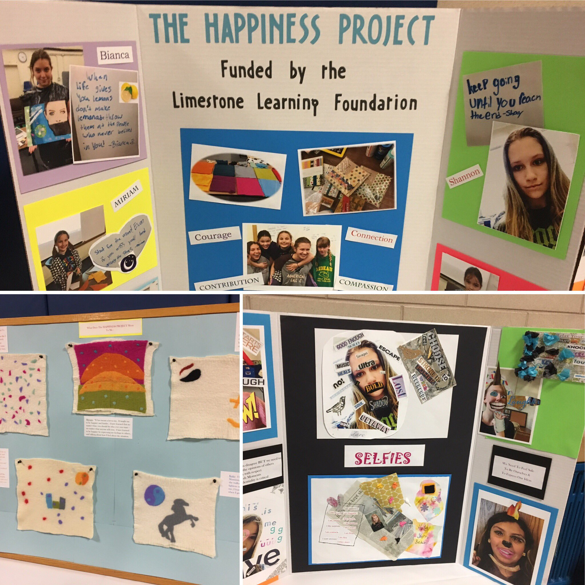 The Happiness Project @RideauPS_LDSB brings young girls together to explore self-identity through art. Ss are passionate about project. https://t.co/88uLAtwYYz
