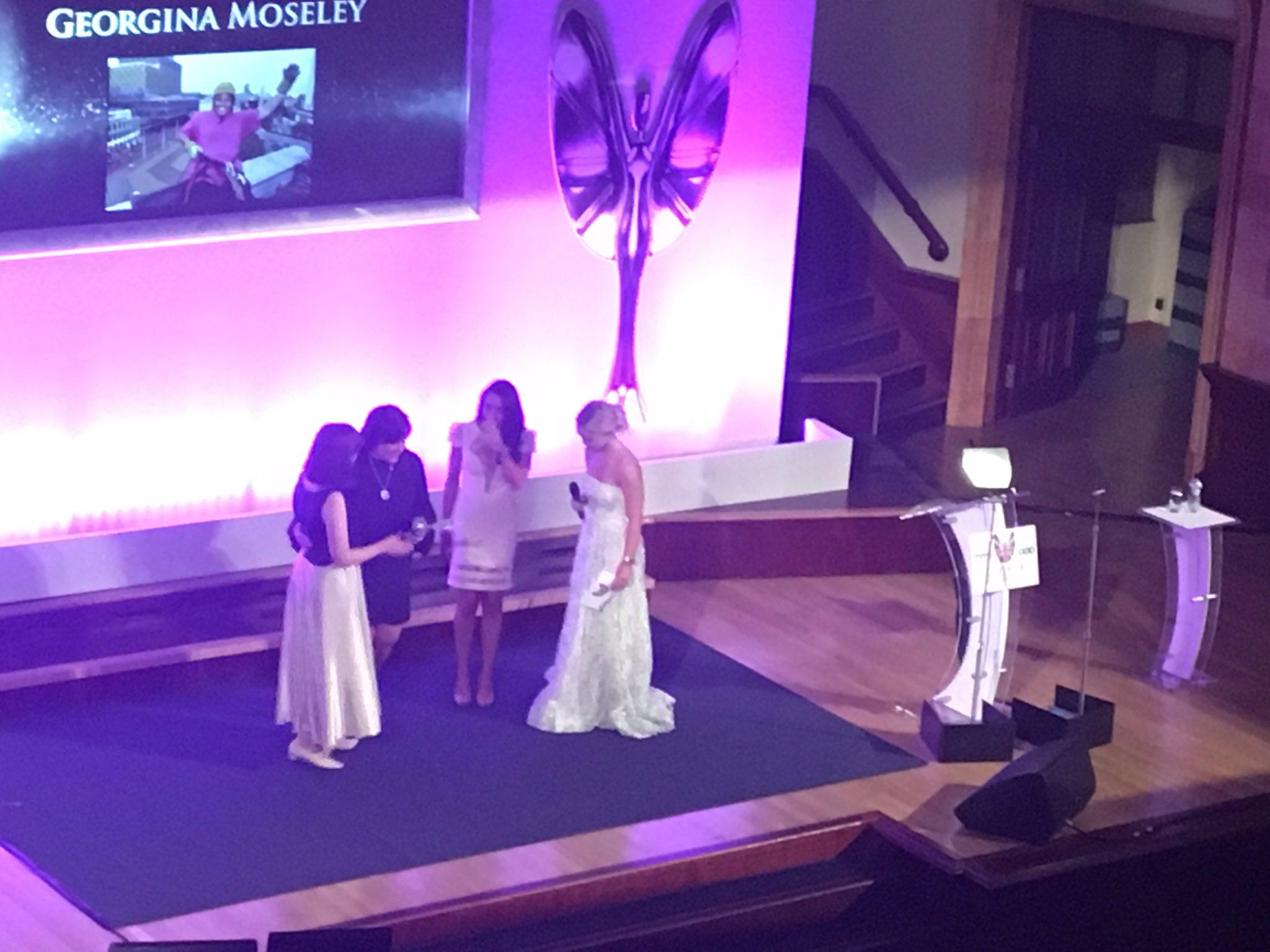RT @PrideOfBritain: The award is presented by @wonderwomanshel and @MsClaudiaJessie #prideofbirmingham https://t.co/RY5k03G41Z