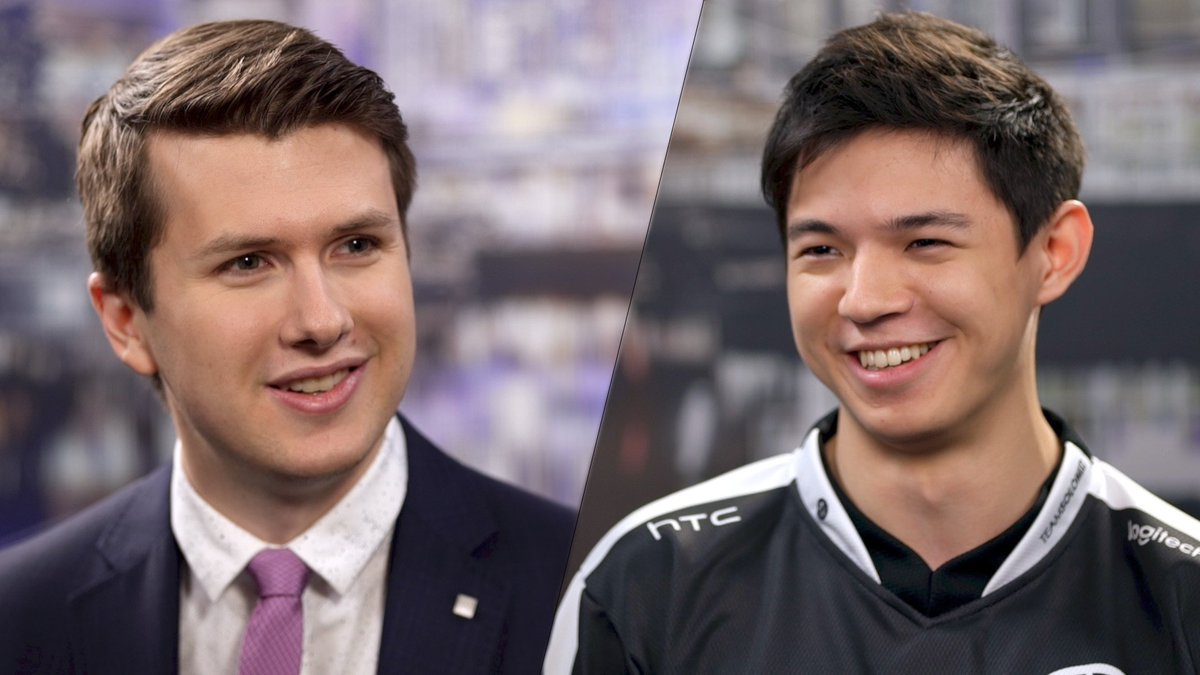 .@TeamSoloMid's top laner @lolHauntzer talked to @RiotJatt about the 2...
