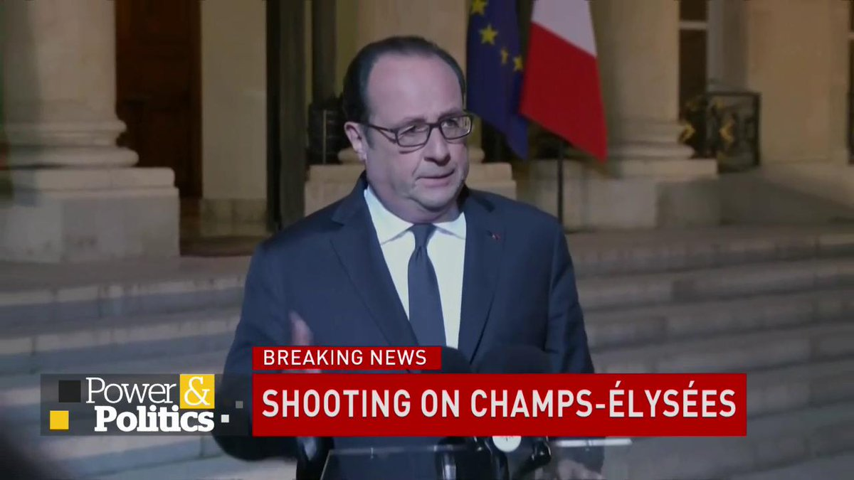 French President Françoise Hollande says police shooting in #Paris was...