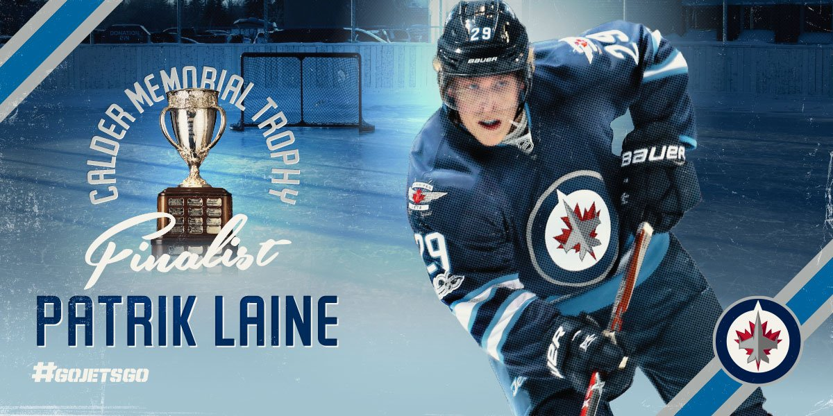 Patrik Laine has been named a finalist for the Calder Trophy!   READ &...
