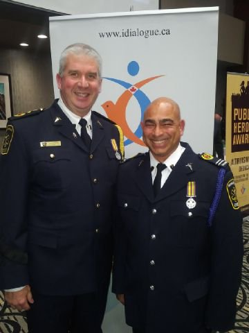 Our Chief Troy & ACP Joe on his recognition as a public hero  #PHG...