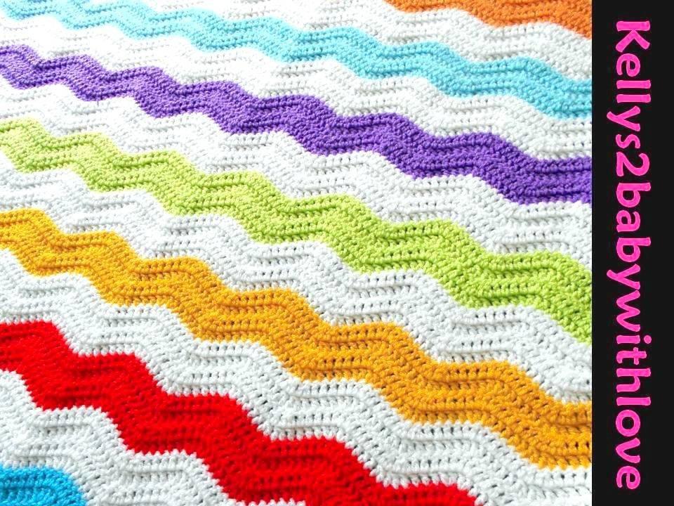 Handmade Multi-Coloured &amp; White Thick Striped Ripple Stitch Crochet Baby …  http:// etsy.me/2k4IHfa  &nbsp;   #Crochet #Blanket <br>http://pic.twitter.com/11BBAl0Rt8