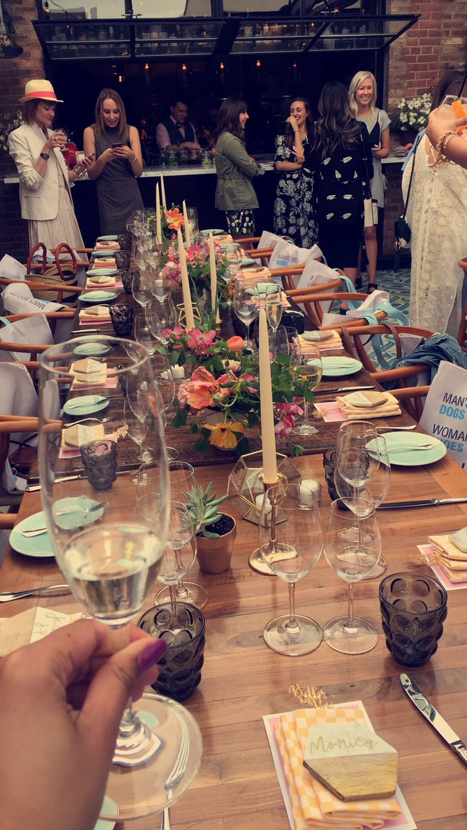 Perfect and chic outdoor garden party at the @hushpuppies #betterinpairs dinner in DC! @MasseriaDC is gorge!
