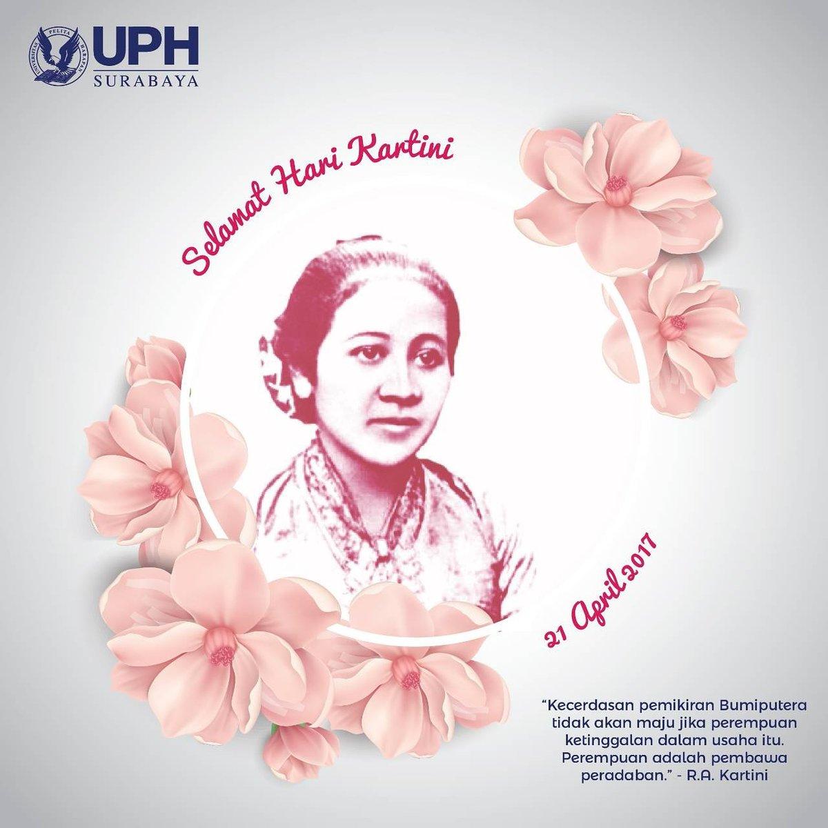 SELAMAT HARI KARTINI !! 👩👩👩 #kartini #harikartini #radenajengkartini #emansipasiwanita #21042017 #uph #uphs #uphSurabaya https://t.co/a8faUBUQUg