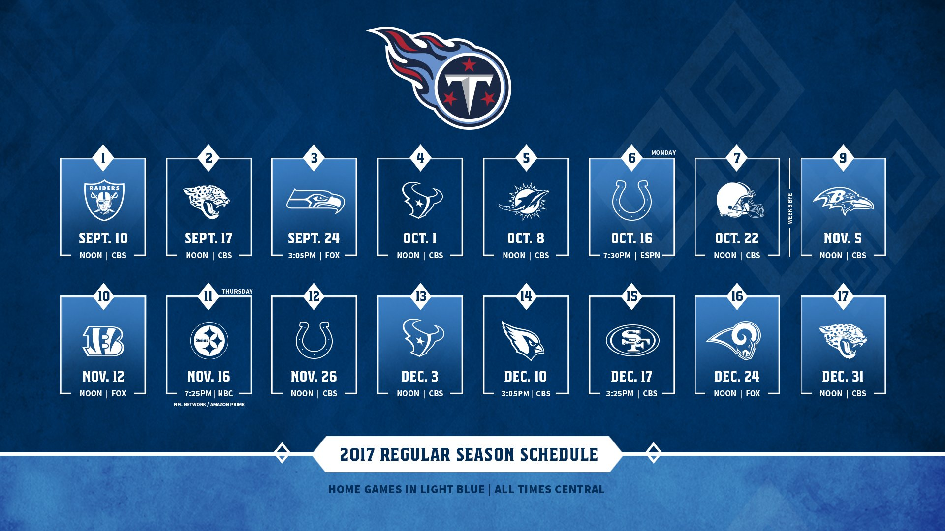 Tennessee Titans On Twitter Whos Ready For Some Football Full 2017 Schedule Tco KYfDuHRlB1