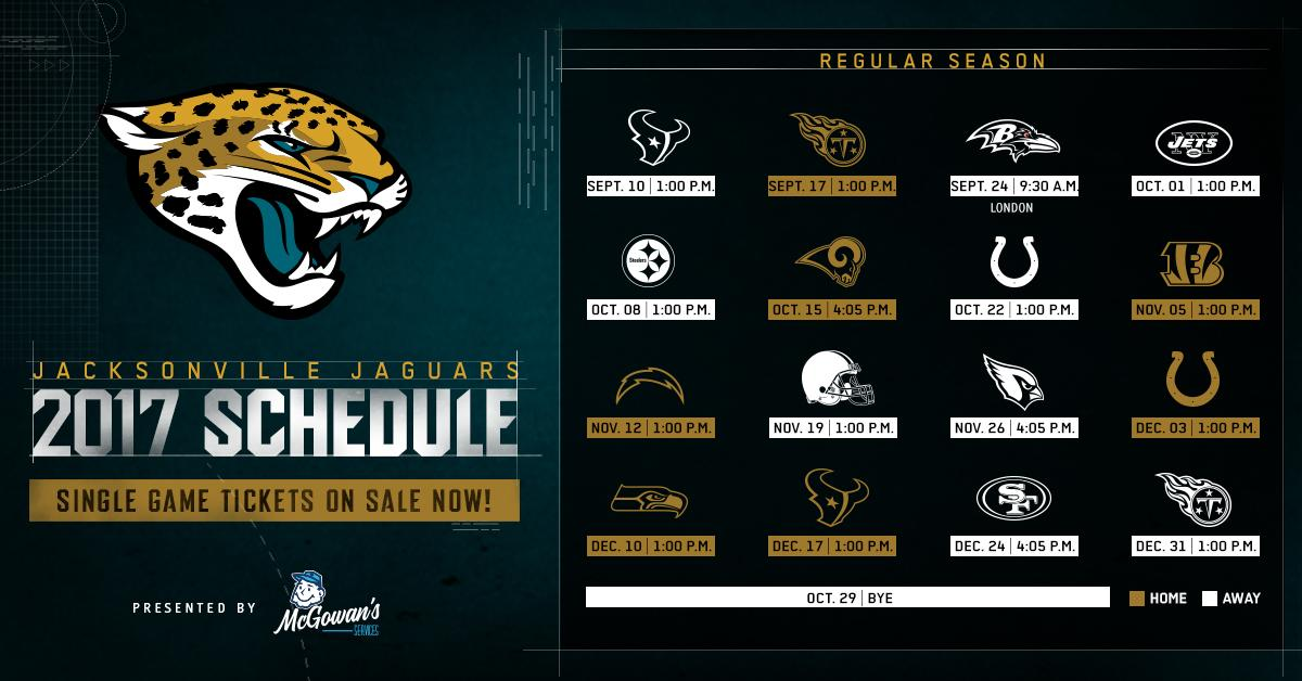 "duuuval on twitter: ""#jaguars 2017 schedule presented"