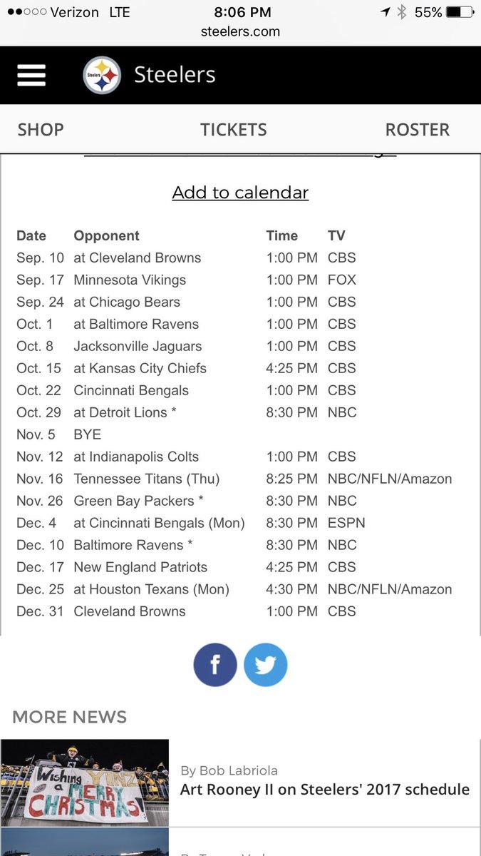 8...count em 8! 4 o'clock or later games. gotta show up. #NFLSchedule...