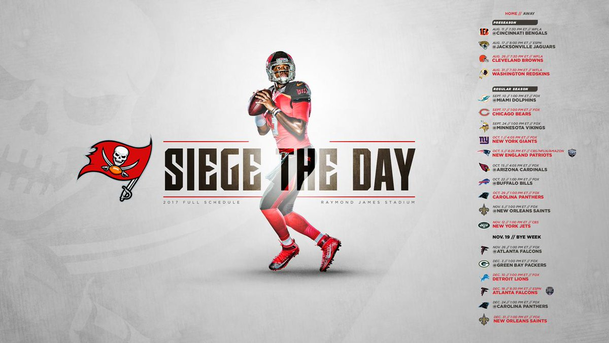 Tampa Bay Buccaneers On Twitter DOWNLOAD Your 2017 Schedule Wallpapers For Desktop Mobile GET YOURS Tco 56tsdvomQy