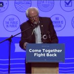 The man who energized progressive grassroots in Nebraska, @SenSanders!  #ComeTogetherFightBack