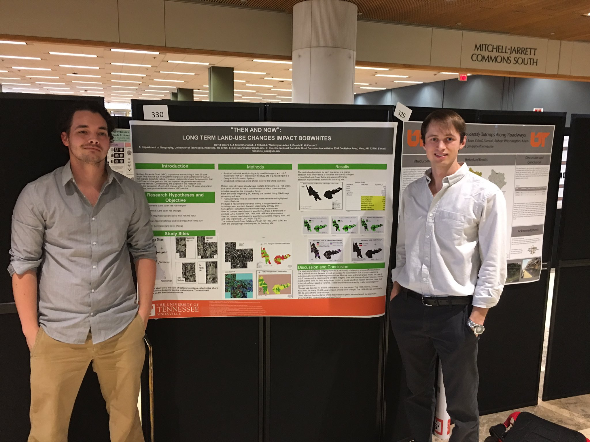 First Place - Ecology & Evolutionary Biology the College of Arts & Sciences EURECA David Moore and Clint Shannon #volresearch @UTKGeography https://t.co/KU46lYdAzE