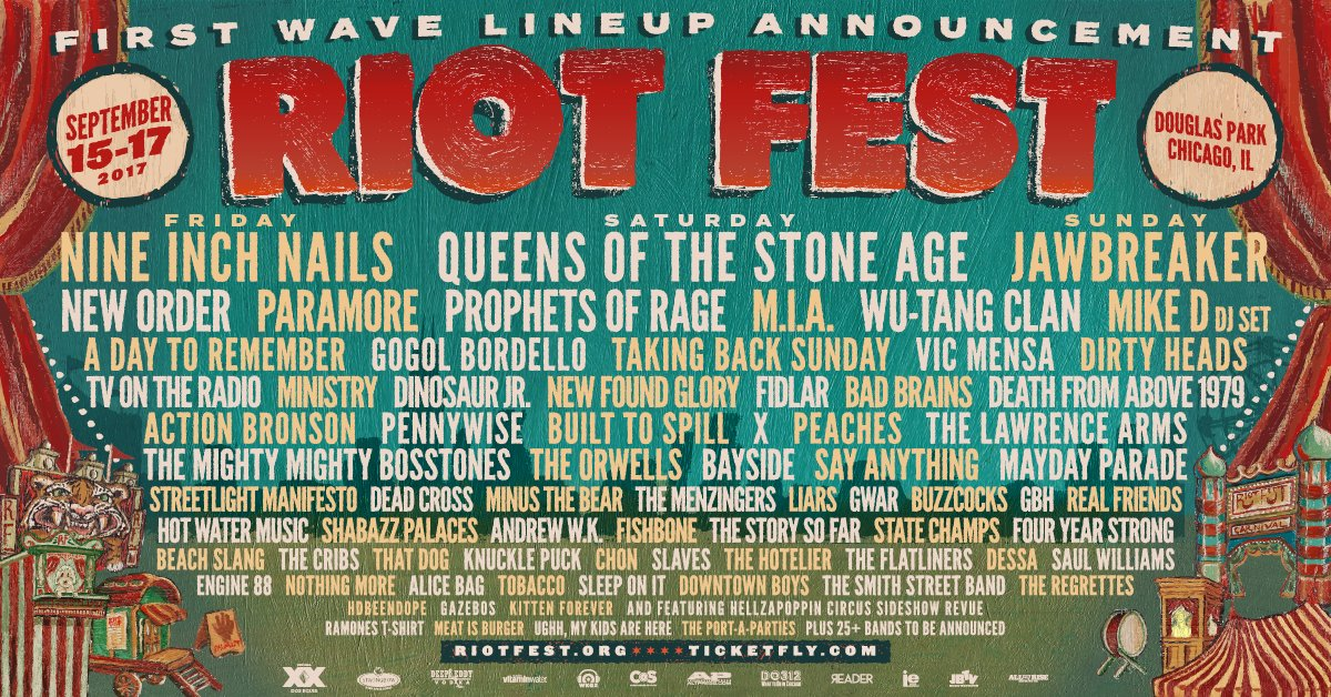 We are playing at Riot Fest and so are Bad Brains! ticketf.ly/2nWvr38
