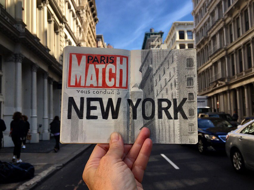 New York. Carnet de Voyage. #sketchbook #dessin #drawing #parismatch @GhisLoustalot<br>http://pic.twitter.com/pZd5KTcqU1