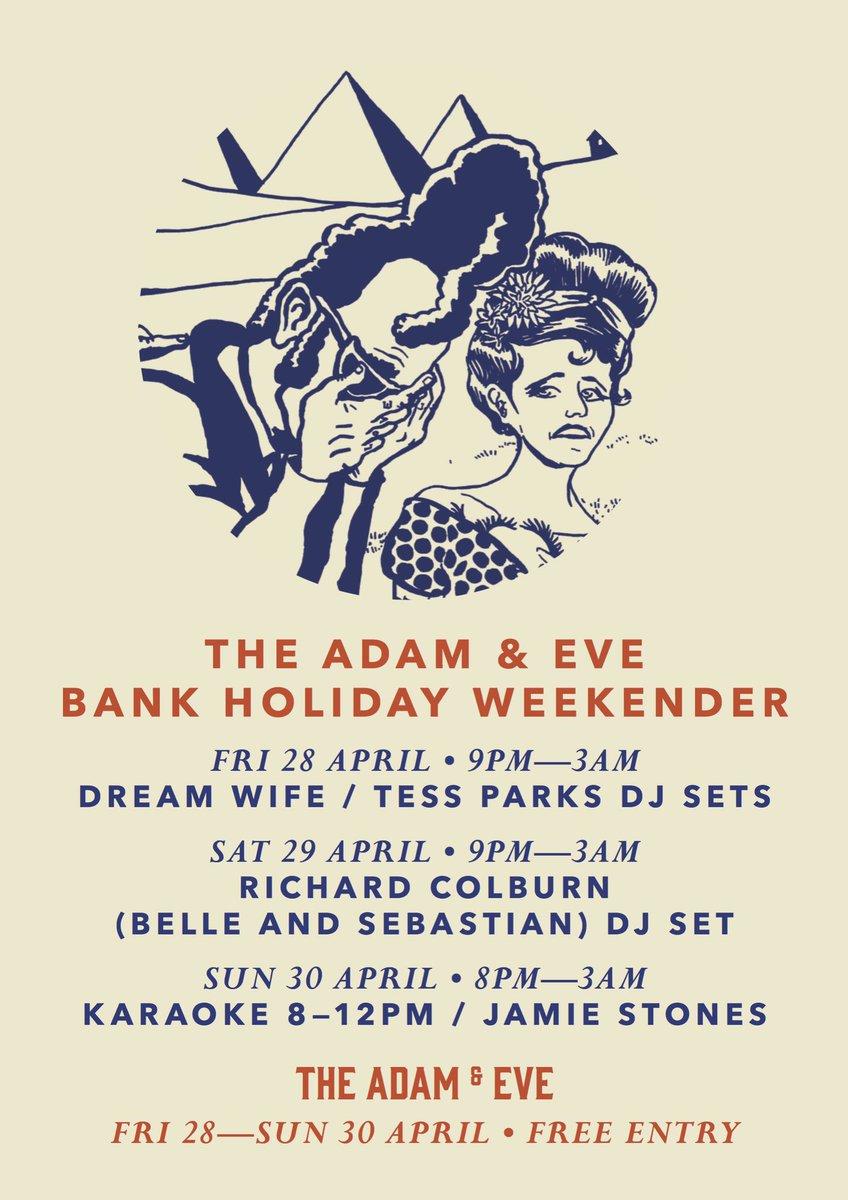 Bank Holiday Weekend Friday-Sunday // Open til 3am  FREE ENTRY @DreamWifeMusic @tessnormaparks @bellesglasgow #DJs #music #homerton #hackney<br>http://pic.twitter.com/x69abj7XD4