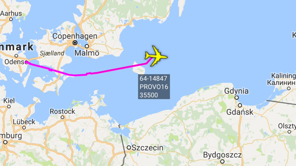 USAF RC-135U departed Mildenhall for Baltic mission