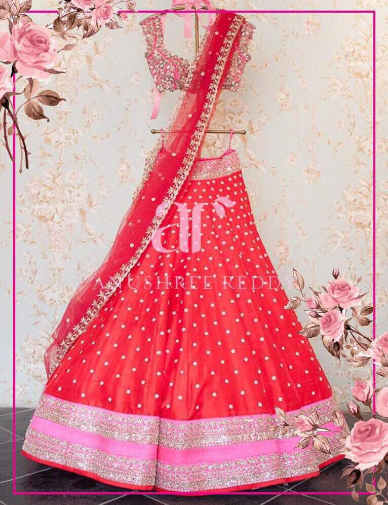 Ruby red and plush pink in spell grandeur in this  AR outfit .