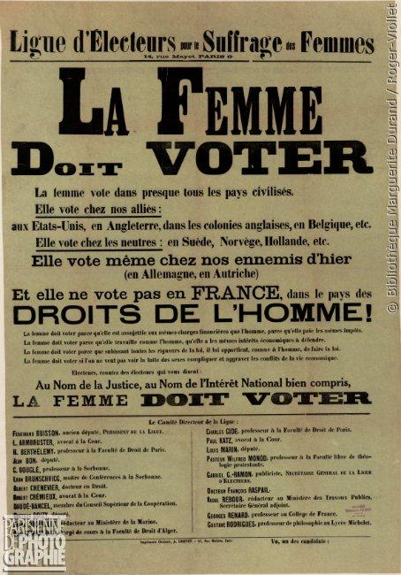 [C'ÉTAIT UN #21AVRIL 1944] #CeJourLa / #OnThisDay Les femmes françaises obtiennent le droit de vote © @bibMarguerite / Roger-Violletpic.twitter.com/9Xf7YfhDbT