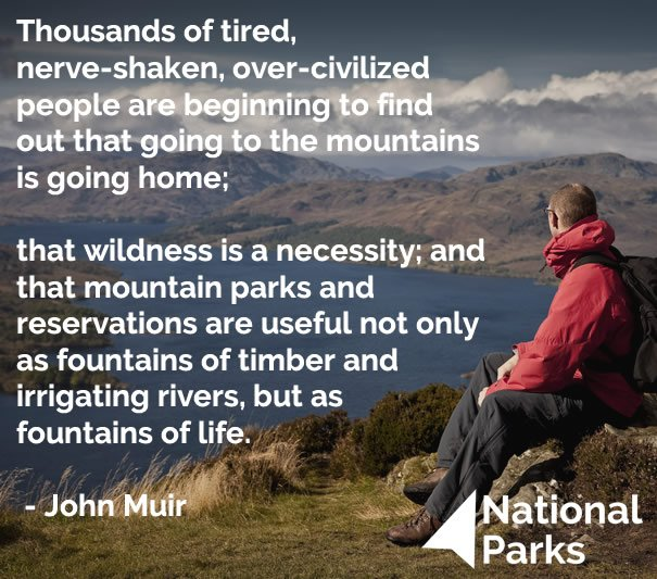 Happy #JohnMuirDay from your family of 15 National Parks :-) https://t.co/iZOSmfXLr1