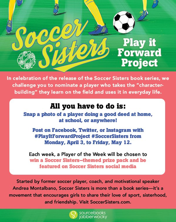 Celebrate the release of the 1st #SoccerSisters book by doing good this weekend on or off the field #PlayItForwardProject @soccersisters