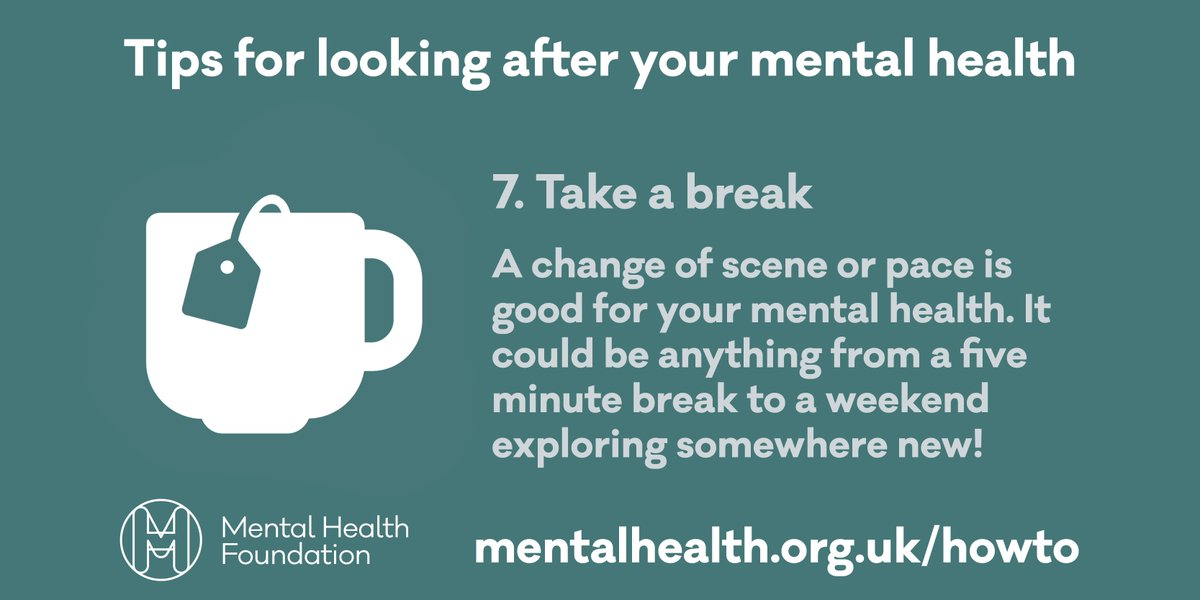 Taking a break, however small, is good for your mental health #nationalteaday