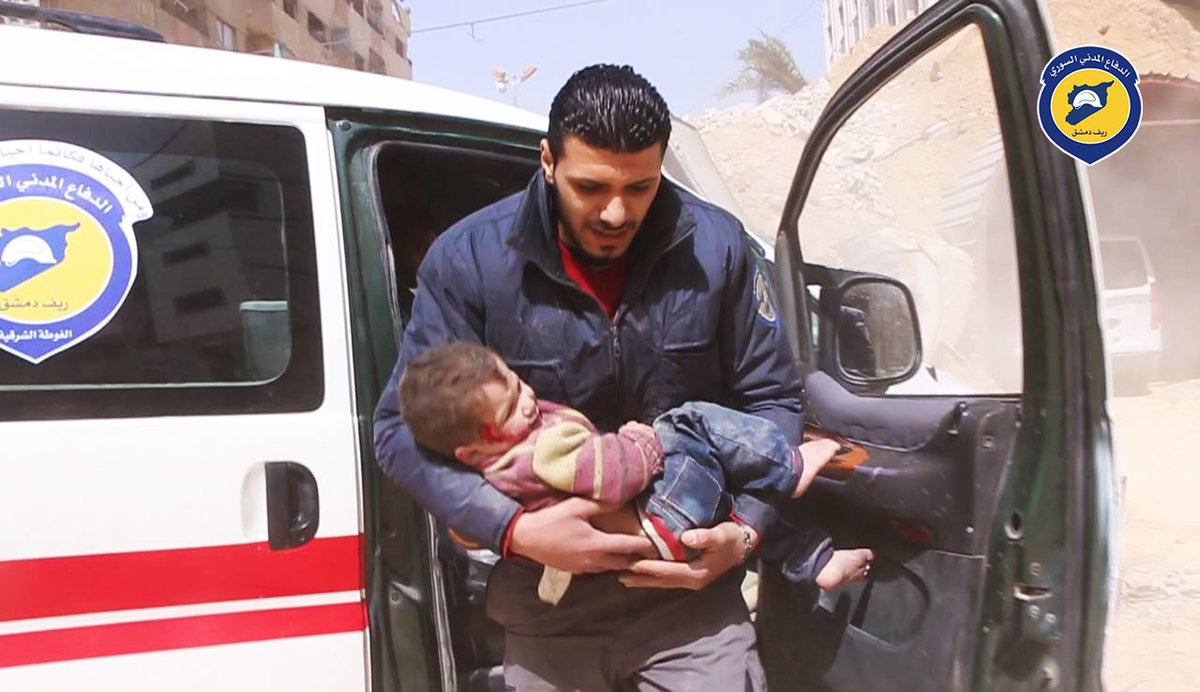 One civilian killed, others injured including children after warplanes targeted Douma, Damascus countryside