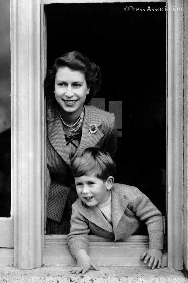 To mark The Queen's 91st birthday, we are sharing this photo from 1952 of Her Majesty and The Prince of Wales. #HappyBirthdayHerMajesty
