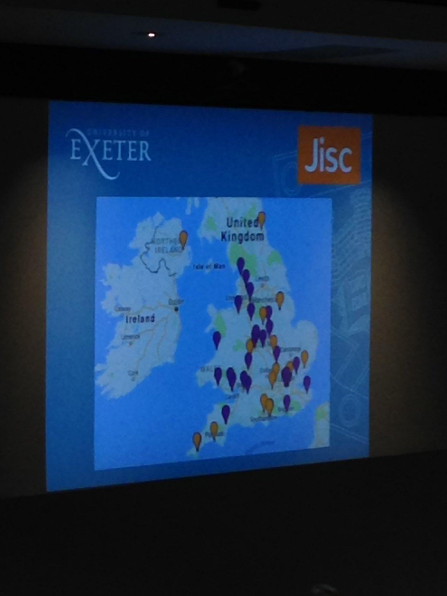 Loving the interactive map. Look @HibberdJake, four different Welsh Universities! #dontforgetWalesagain #JiscCAN17 https://t.co/KTpkAY5xV1