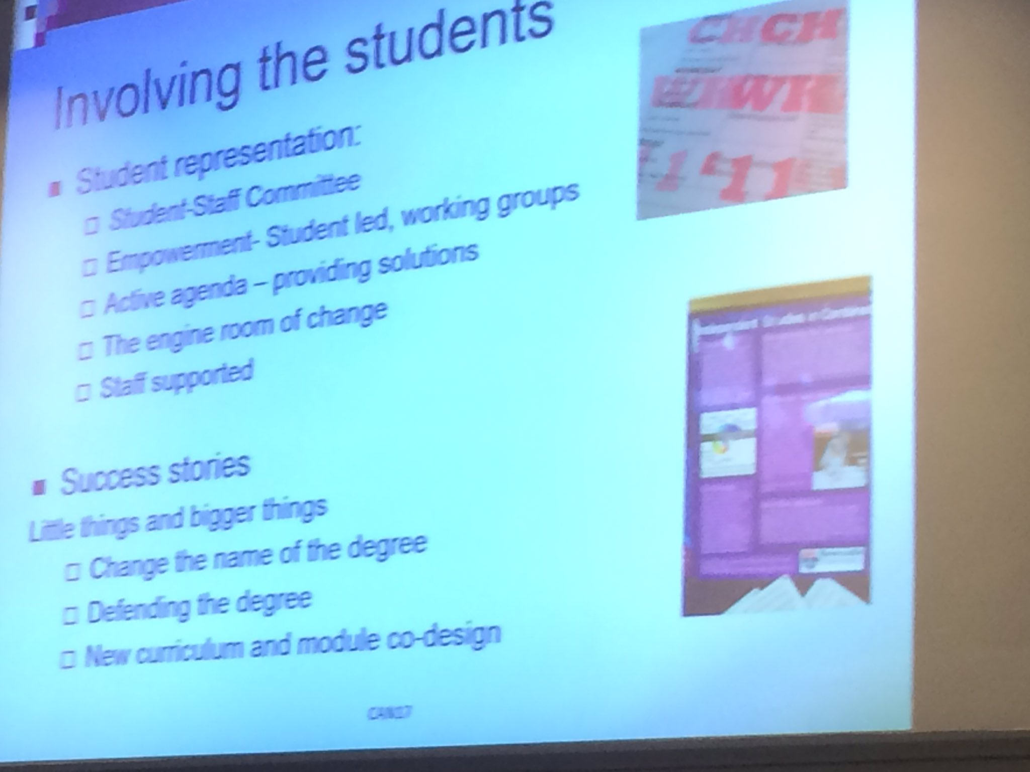 Involving students at Newcastle uni #jiscCAN17 https://t.co/wI0ZLAW8Zy