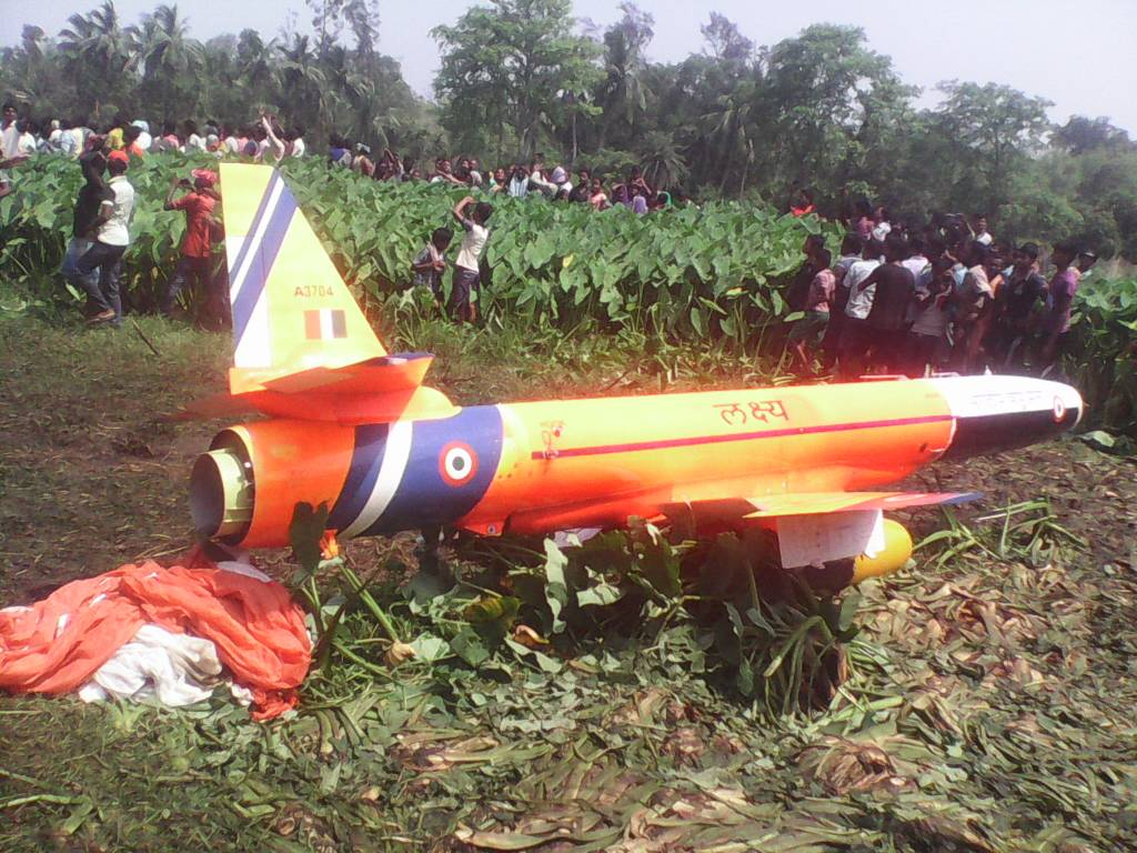 Odisha: Lakshya, an unmanned aerial vehicle of the Indian Air Force crashed in Chandamani village today, no casualties/injuries